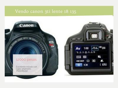 Foto-Audio-Video Cámara Reflex Canon Eos T3i Full Hd Kit Full Impecable